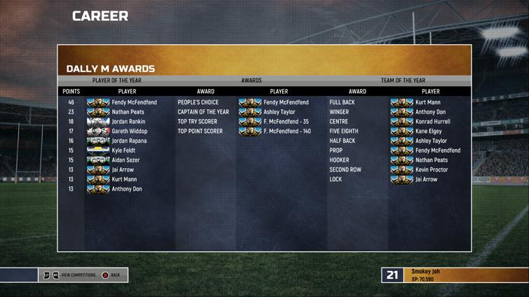 Rugby League Live 4 Screenshot 2
