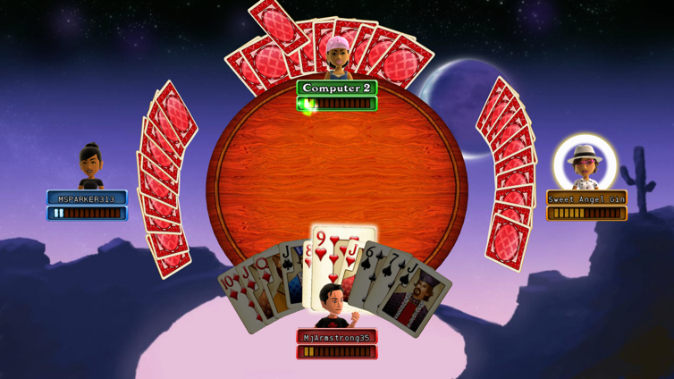 Hardwood Spades Screenshot 1